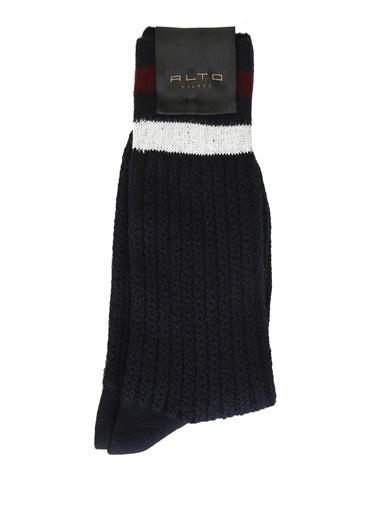 Alto Socks Alto Socks  Şerit Detaylı Erkek Çorap 101560330 Lacivert